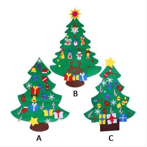 El envío libre vende al por mayor el árbol de navidad fijado con los ornamentos Decoración del colgante de pared de la puerta del regalo de Navidad