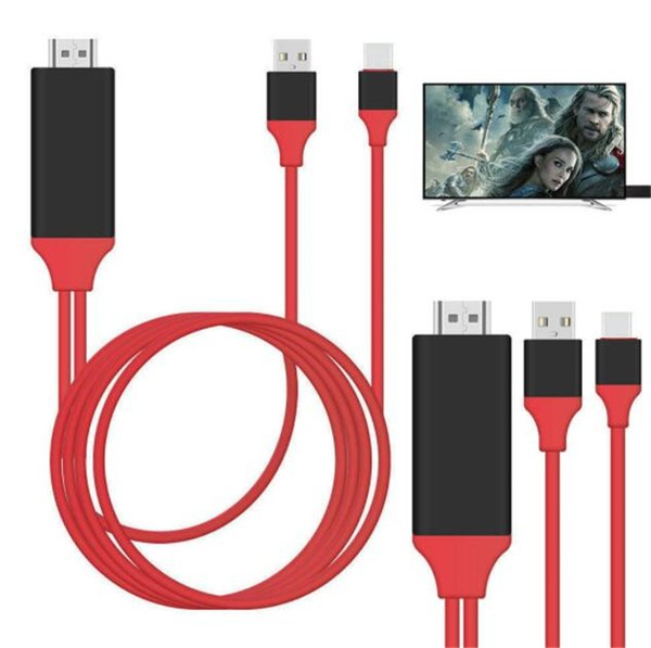 HDMI Cable For Lighting to HDMI HDTV TV Adapter USB Cable For i Phone X 8 7 6 5 With Retail Box
