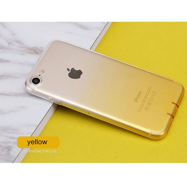 Soft Cell Phone Cases With Hard Button Shell Ultra Thin Gradient Color Protective For IPhone X 6 6S 7 8 Plus Dirt Resistant Back Covers iPh