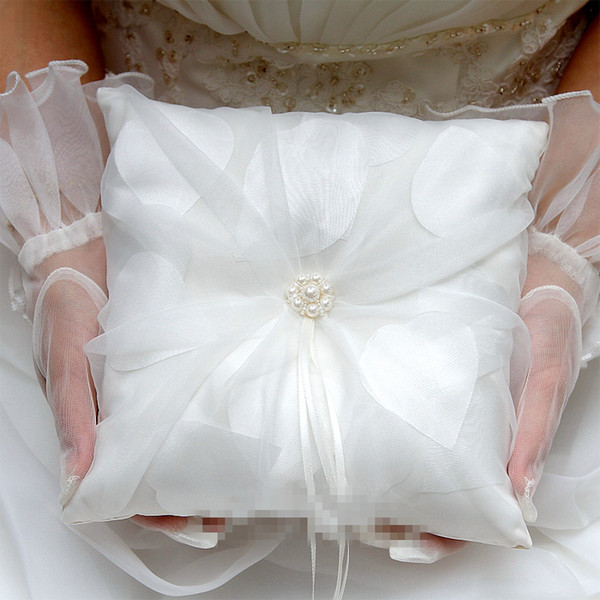 2019 2019 New Wedding Ring Pillow White Color With Yarn Ribbon Lace Decorations Wedding Rings Holder Favors From Smileangel 2815 Dhgatecom