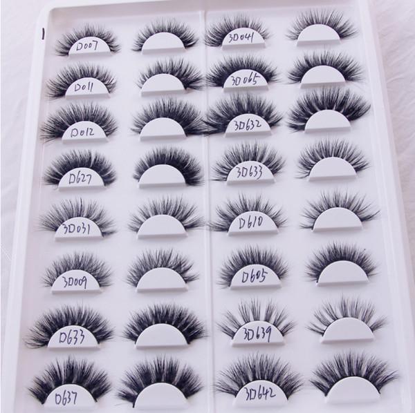 3d mink fur false eyelashes thick long mink fur false eyelashes 3d multi-model choice for free delivery