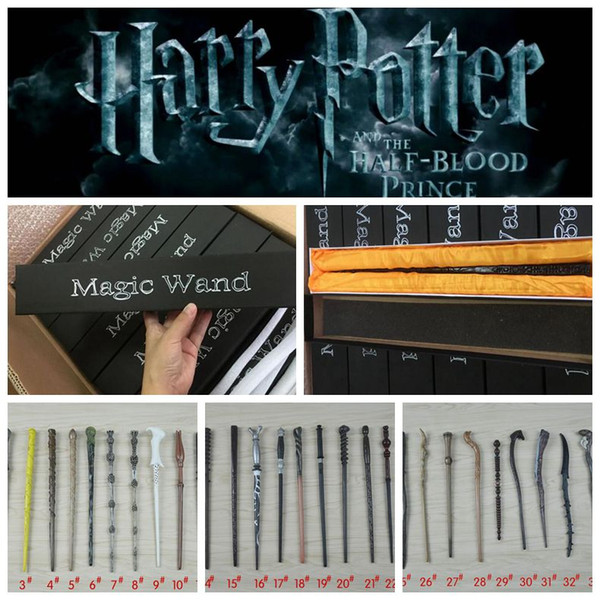 Harry Potter Magic Wand 34 design Cosplay Hermione Granger Role Play Resin Magical Wand Gift Box Harry Potter Magic Wands toy LJJK1042