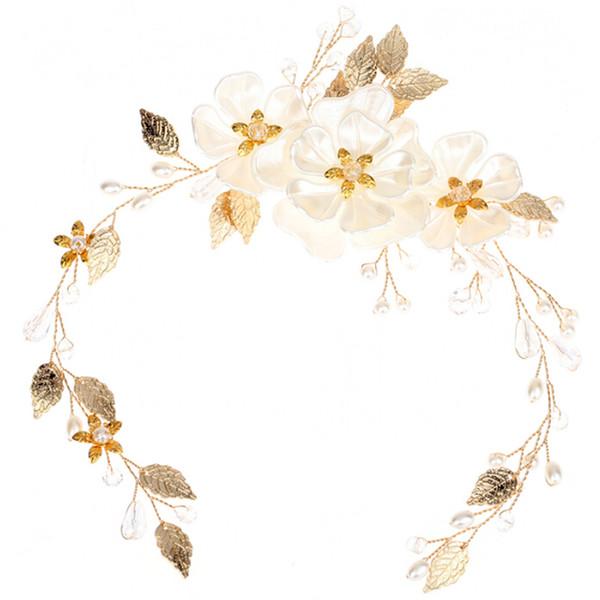 1 Pz Donne Ragazze Nuziale di Cristallo Perle di Strass Perle Fiore Clip di Capelli Accessori per gioielli Combs