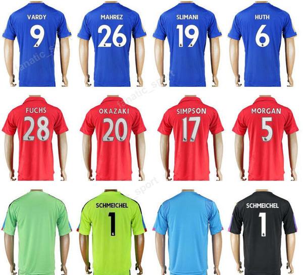 timeless design 042e0 ebf03 2018 2018 Soccer Leicester City Jersey 17 18 Thailand 9 VARDY 26 MAHREZ  Football Shirt Uniform Kits 19 SLIMANI 6 HUTH 10 KING 28 FUCHS 20 OKAZAKI  From ...