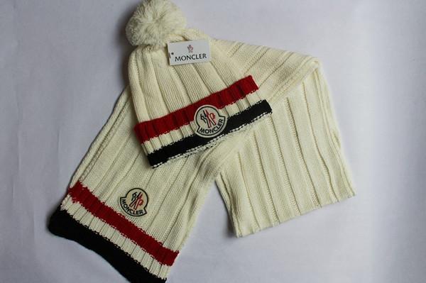 Оптовая продажа-очень популярные мужские женские европейский американский шарф шляпа из двух частей осень зима согреться шляпы шарфы наборы бесплатная доставка