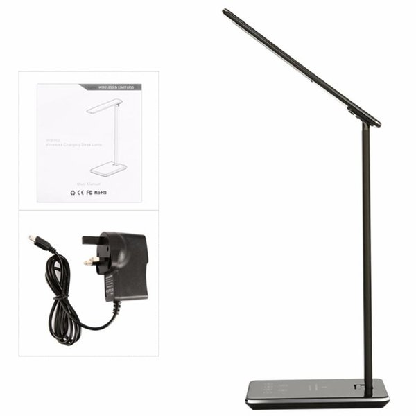 Hot selling LED Desk Lamp Table lights Folding Eye-friendly 4Light Color Temperature Book Light with Wireless Desktop Charger