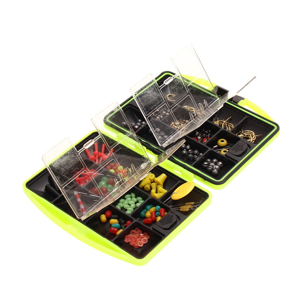 New Sports Fishing Tackle Boxes Jig Swivels Clamp Hooks Fishing Accessories Assorted Tackle Box Outdoor ARE4