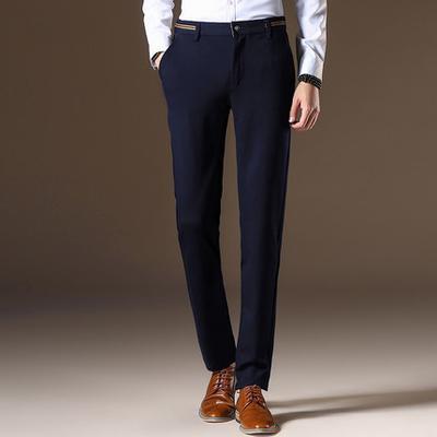 2016 hommes de haute qualité costume pantalons homme casual style occidental pantalons d'affaires, plus la taille 36 38 40 hommes formelle robe pantalon