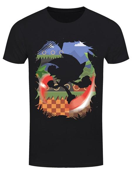 Süper Hızlı Siluet Erkekler T-shirt Siyah Tee Gömlek Hipster Harajuku Marka Giyim T Gömlek Yuvarlak Boyun Erkekler Üst Tee Pluis Boyutu
