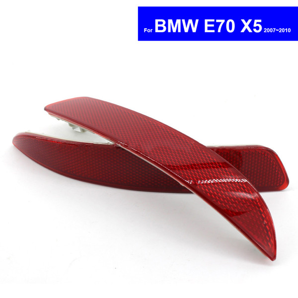 Red Car Rear Bumper Reflector Light for BMW E70 X5 2007 2008 2009 2010 Auto Safety Reflective Lens Tail Warning Light