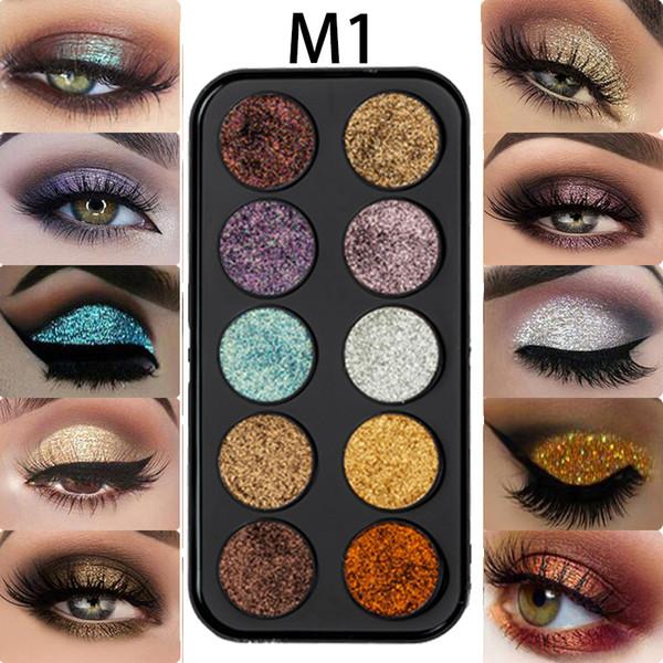Miss Rose Brand Glitter Eye Shadow Pallete Makeup Cosmetics Pigment Shiny Eyeshadow Pressed Powder for Eyes Festival Makeup