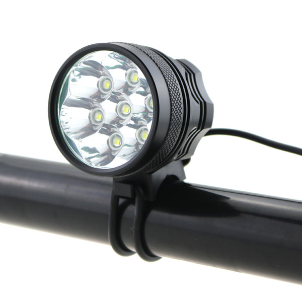 9000LM Bike Light Waterproof 7XCREE T6 LED Front Headlight Rechargeable Bicycle Light With 8.4V 8800mAh 18650 Battery Pack