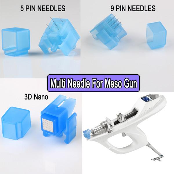 10pcs Water Meso Injector Gun Needle 5pins 9pins Nano 3D Disposable Meso needles For Mesotherapy Gun injection serum skin rejuvenation