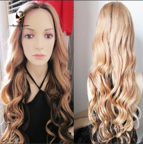 Ombre #4/#27Brazilian Virgin Hair Full Lace Wigs For White Women 100% Human Hair Wigs Baby Hair For African Americans