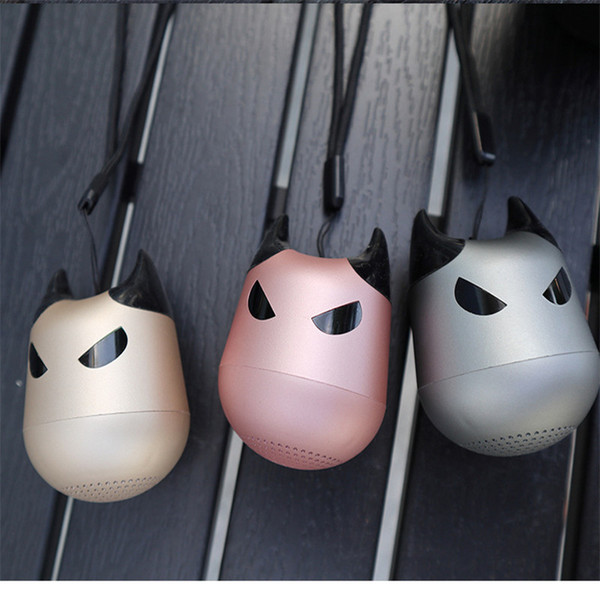 Little Devil Shape Mini Wireless Bluetooth Speaker Powerful 3w Music Box Super Bass with MIC for Phones Support selfie