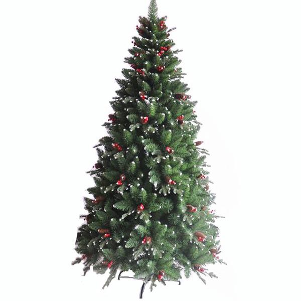 1,2 m / 3,0 m criptazione PE + PVC rosso pigna albero di Natale Natale Hotel mall decorazione della casa