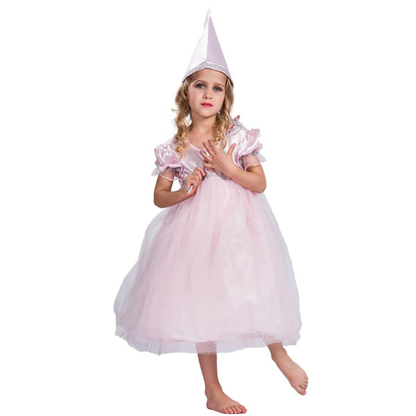 Ragazze Pink Princess Fiaba Madrina del libro Fancy Dress Costume Outfit