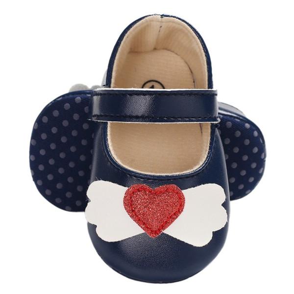 Baby Toddler Shoes Il primo camminatore Autunno Baby Girl Love PU Principessa fondo morbido antiscivolo toddler Princes Shoes