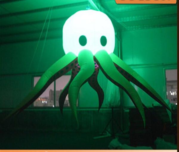 O envio gratuito de venda quente polvo inflável gigante levou polvo com preços de luz led mutável para decorações do estágio da festa de casamento