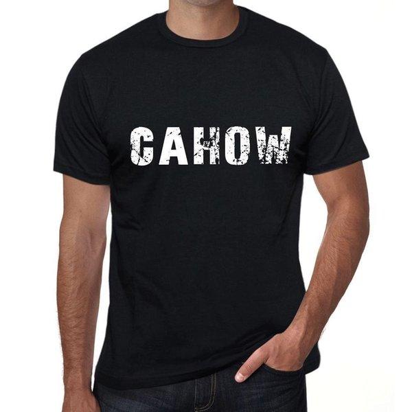 cahow Mens Vintage Футболка с набивным рисунком Черный подарок на день рождения 00553