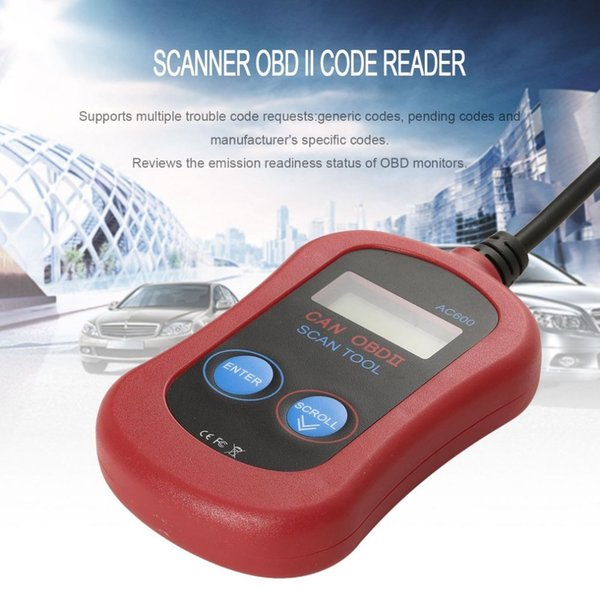 New AC600 Scanner Diagnostic Code Reader OBD II Car Diagnostic Tool LCD Display Universal Vehicle Failure Diagnosis Instrument