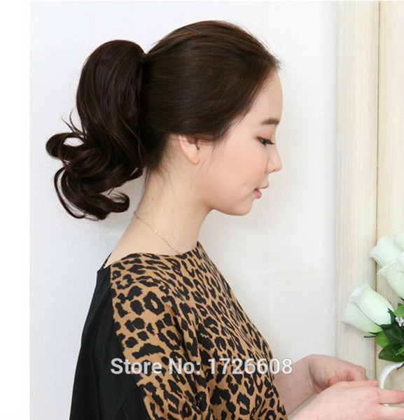 Claw Clip on Ponytail Fake Hair Extensions False Hair Pony Tails Horse Tress Curly Synthetic Hairpieces Short Ponytails for girl