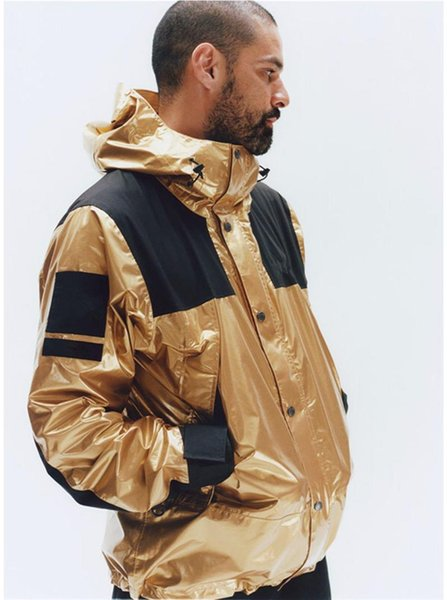 Mens del diseñador de moda de invierno chaquetas rompevientos para hombre reflector de plata del Norte chaquetas Homme oro para hombre de la calle principal chaquetas