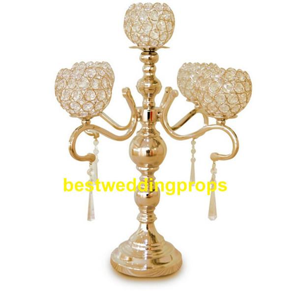 New Metal flower column wedding gold centerpiece flower stand decorative flower vase wedding decoration table centerpieces supplies best0319
