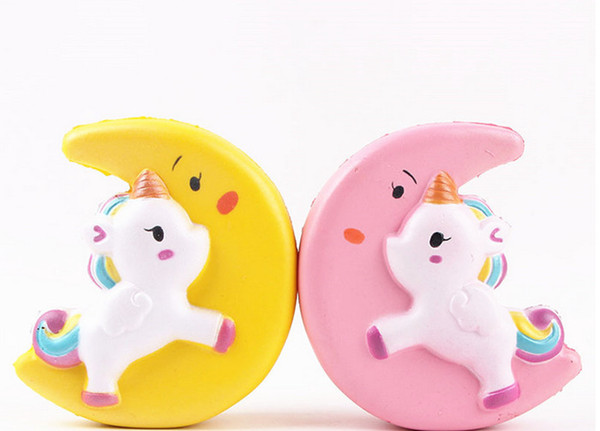 Slow Rising Squishy UNICORN MOON Icecream Flash Powder Kawaii Phone Charms Pendant Straps Christmas Gift Stress Reliever Free DHL