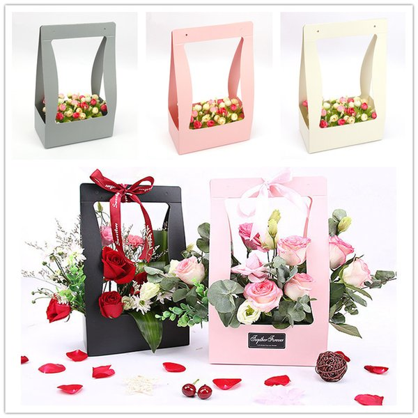 10pcs 34x23.5x12cm Paperboard Gift box DIY Valentine's Day Flower Wrapping Box Gift Packing Box Bouquet Florist Supplies Wedding