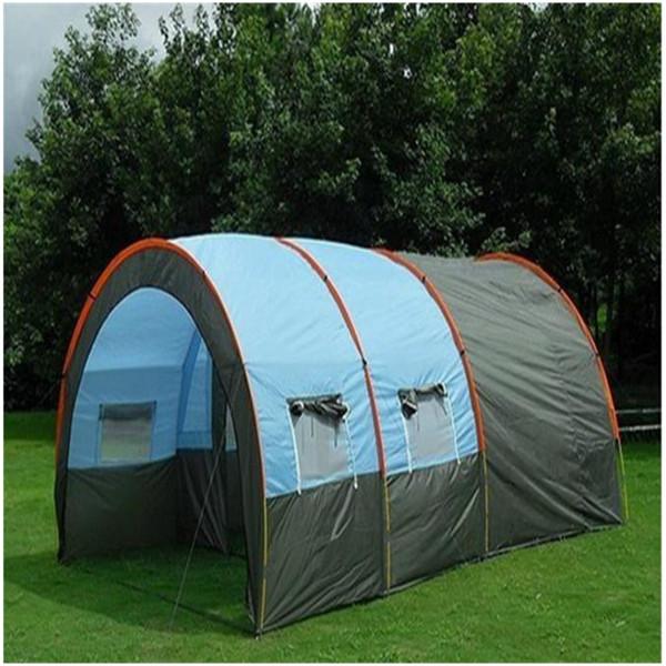 En plein air 5-8 Personnes Famille Camping Randonnée Fête Grandes Grandes Tentes 1 Hall 2 Salle Tunnel Tente Imperméable Événement Tentes Plage Tente Livraison gratuite