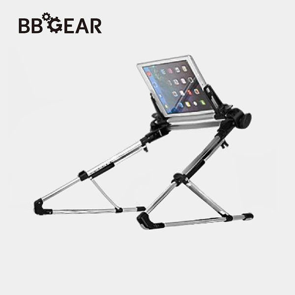 wholesale Foldable Tablet PC Stand Holder Aluminium Laptop Tablets Lazy Stands Desktop/Bed Mount Bracket for iPad Air Mini Samsung