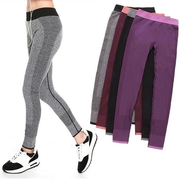 S-XL 4 Renkler Kadınlar Için Yuga Vücut Geliştirme Tayt Spor Giyim Moda Elastik Jegging Tayt