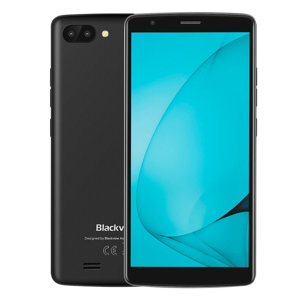top popular Original Blackview A20 Cell Phone 5.5 inch 18:9 Full screen 1G+8G Android Dual Rear Camera 3G WCDMA Phone 2019