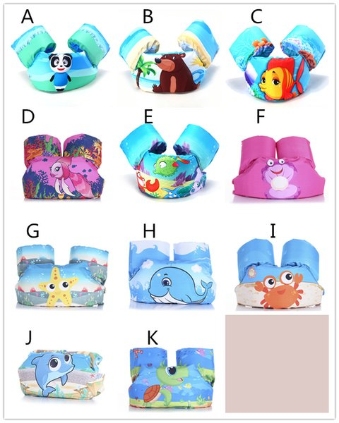 Kids cartoon life-vest jumper life jacket cute crab panda bear fish patterns lifejacket for children 2-7T 14-25kg