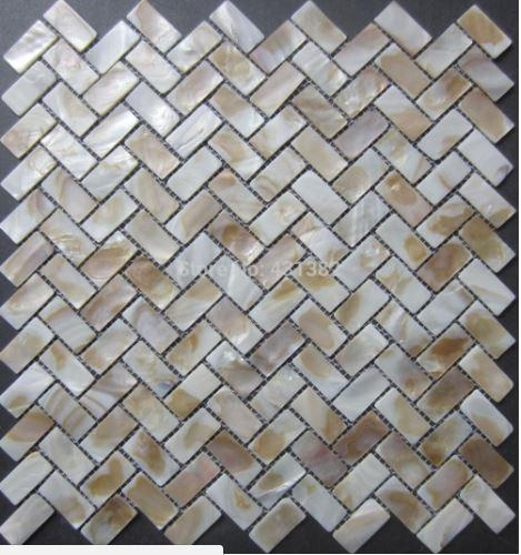 New color mosaic tile 15X30MM mother of pearl tiles, Natural shell mosaics floor tiles,background wall;kitchen backsplash tiles