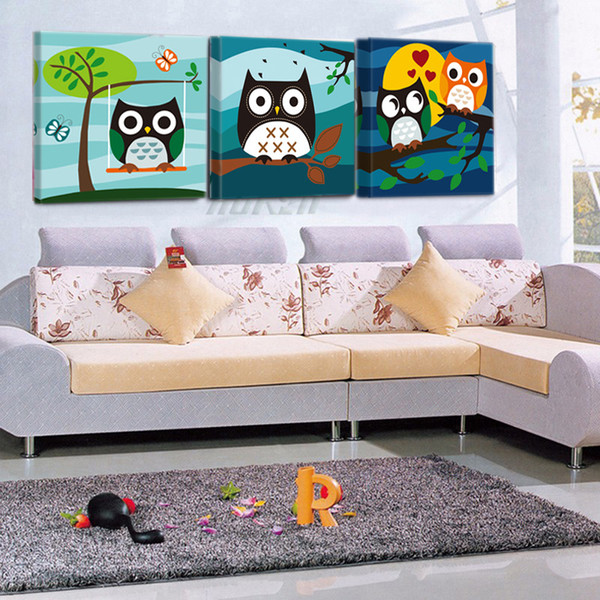 Cute Cartoon Animal Owl Poster And Print Art Canvas Painting Home Decor Wall Picture Children Room P788