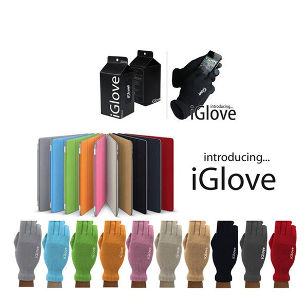 With retail pack High quality Unisex iGlove Capacitive Touch Screen Gloves for iphone 7 iphone 7 plus for ipad smart phone iGloves gloves