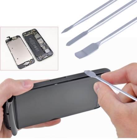 Universal 3 pcs / set Metal Spudger reparación de herramientas de apertura de teléfonos móviles para iPhone para Samsung Laptop Tablet Smartphone
