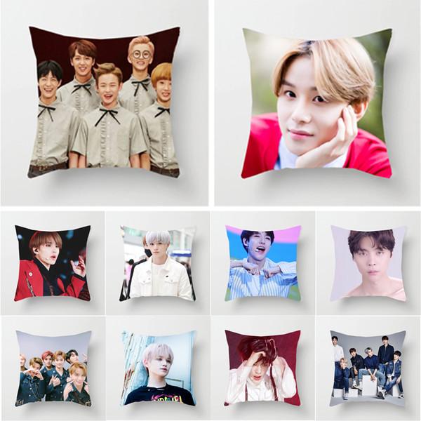45 * 45 см корейские женщины мужская группа певица поющая телезвезда NCT комбинация фото хлопковое постельное белье наволочка квадратный наволочки диван спальня