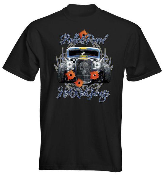 Acheter Velocitee T Shirt Premium Pour Hommes Bullet Proof Hot Rat Rod Ford 3 Fenêtre W17052 Qualité Imprimer Nouvel Été Style Coton Top Tee De $12.05