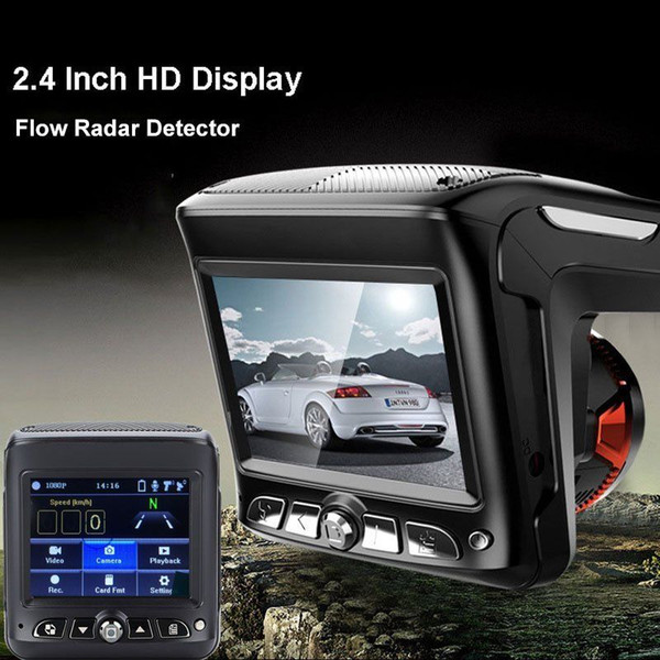 2018 2.4'' HD 1080P Car Video Camera Recorder Dash Cam Radar Speed Detector Car DVR Free Shipping