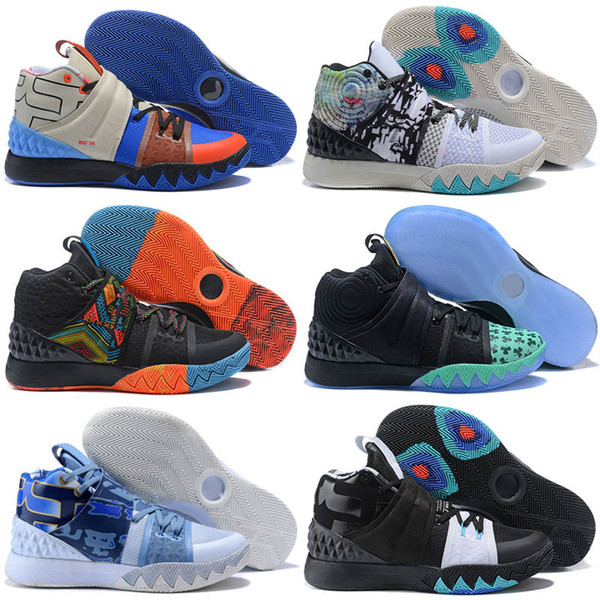 finest selection 7f46e b45f2 2019 2018 What The Irving 4 S1 HYBRID Peak 3 1 Basketball Shoes For High  Quality Men'S Kyrie BHM All Star Navy Sports Sneakers EUR 40 46 From ...