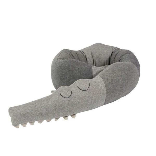 Toepak Children's Crocodile Pillow Safety Environmental Protection Material Cartoon Comfort Fence Children's Room Decoration Toy