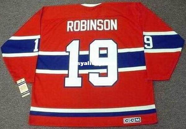 Homens personalizados LARRY ROBINSON Montreal Canadiens 1973 Jersey CCM Jerseys Vintage Barato Retro Hóquei