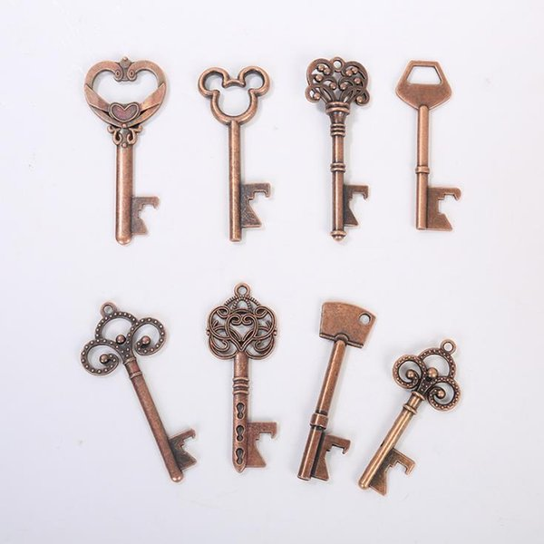 200pcs HouseHolds Novelty Mini UK Suck KeyChain Beer Bottle Opener Coca Can Opening tool wth Key Ring[SKU:A459]