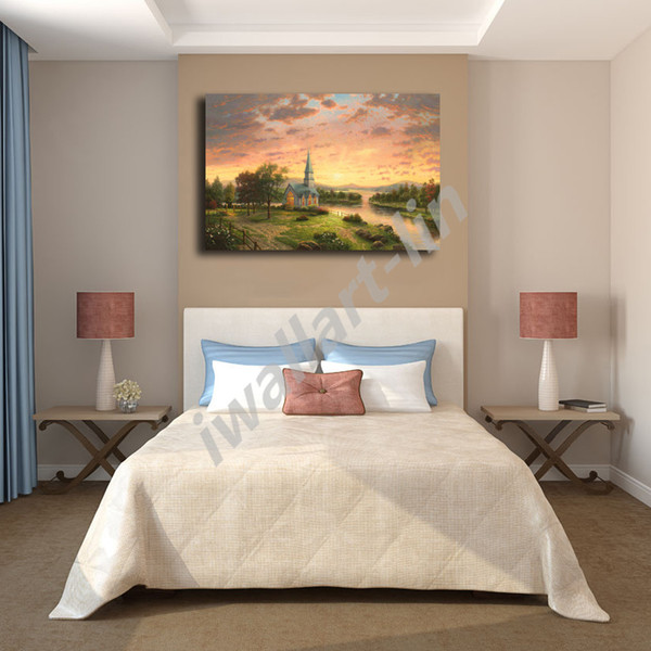 Thomas Kinkade Churches Archives Poster Canvas Painting Oil Framed Wall Art Print Pictures For Living Room Home Decoracion