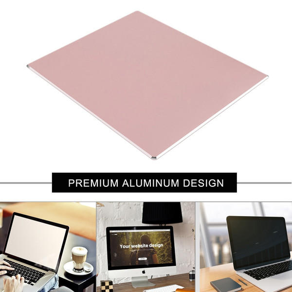 Aluminum square Mouse pad,Pink Gaming Pads Non-slip Rubber Base for Fast Accurate Control for Any Dpi Speed,Optical Laser Mice Game,Desktop