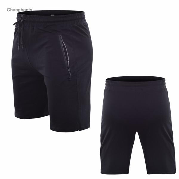 Short de course en jersey de coton noir ou gris pour hommes Maillots serrés à séchage rapide Yoga Vêtements de sport Élastique de gymnastique Vêtements de sport