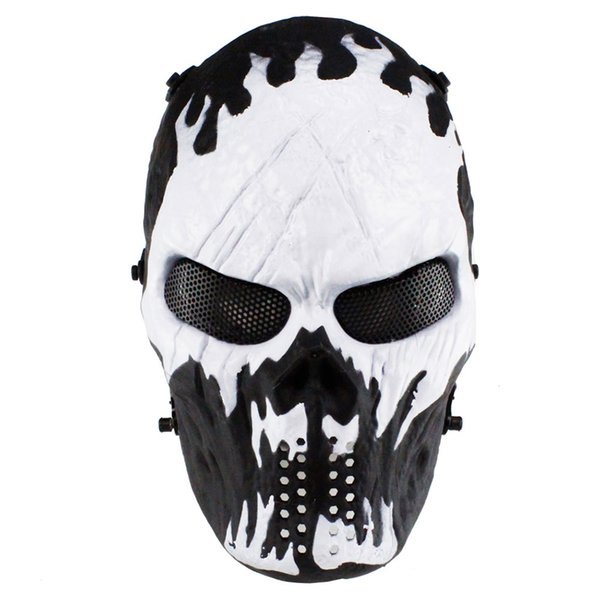Horror Skull Mask Outdoor Gioco Paintball Cosplay Movie Puntelli Full Protective Riding Mask Club Decorazione del partito
